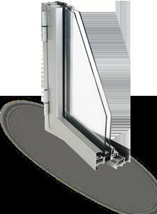 Sección ventana practicable Serie 60 THERMIC Ventaluce Ibérica