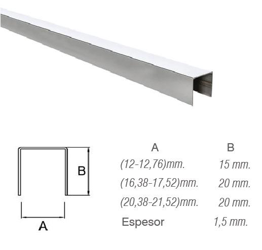 Pasamanos de aluminio para barandilla de cristal